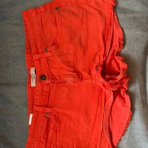 Red/Orange Jean Shorts